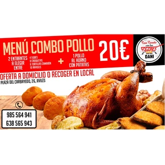 Menú combo pollo 20€