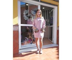 Vestido rosa con bolsillos