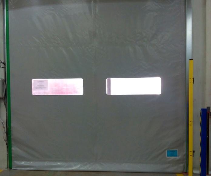 Puerta rápida de lona pvc enrollable autorreparable Farem Smart bastidor galvanizado