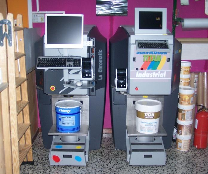 Maquinas tintometricas