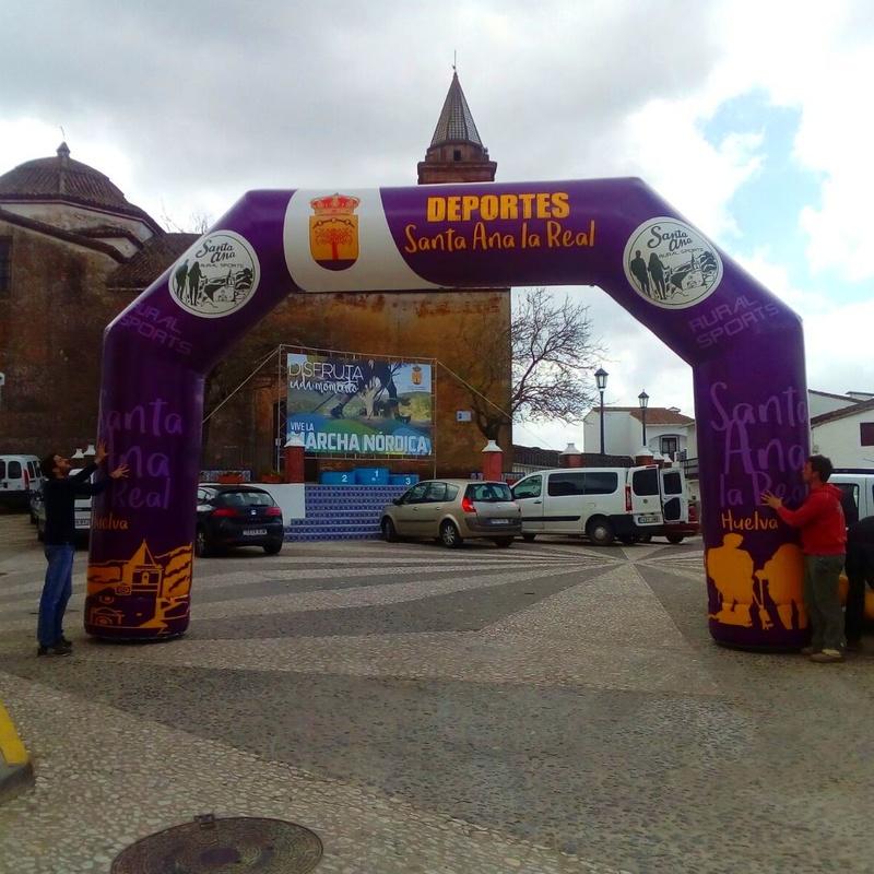 Arco de Meta Santa Ana la real : Catálogo de Hinchables Happy Jump