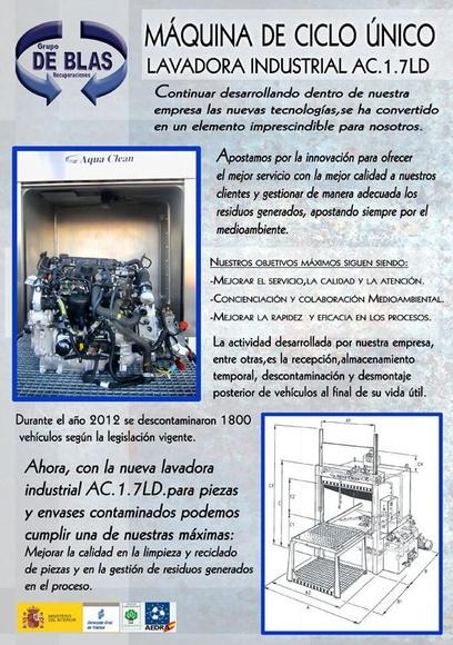 LAVADORA INDUSTRIAL DE ENVASES CONTAMINADOS