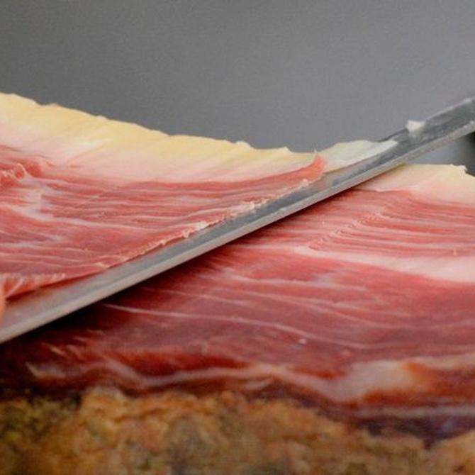 Aprendiendo a cortar el jamón: las partes del jamón