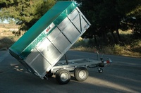 Remolques de carga basculantes con lona en Zaragoza