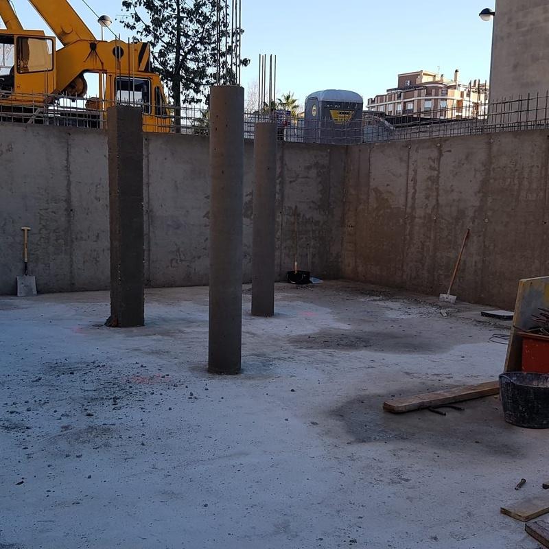 Muros y pilares de hormigón Canals Valencia