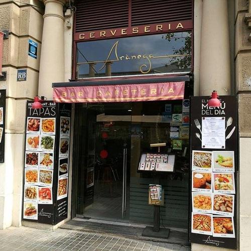 Restaurante Arànega en el Eixample, Barcelona