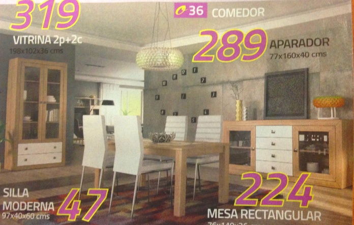 comedor mod.36: Productos  de Muebles Llueca, S. L.