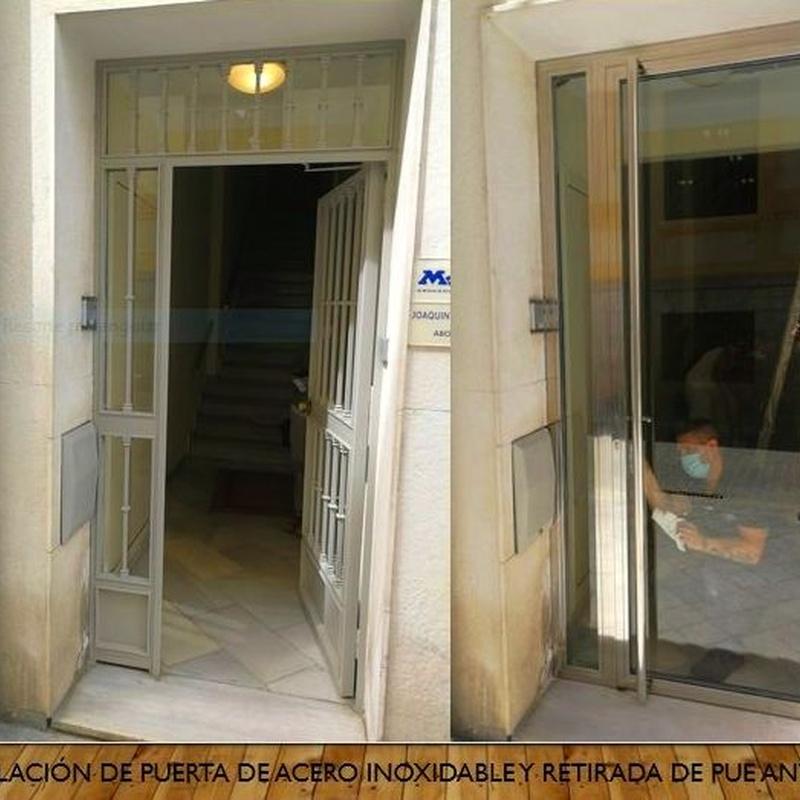 Cambio y modernización de puerta de acceso