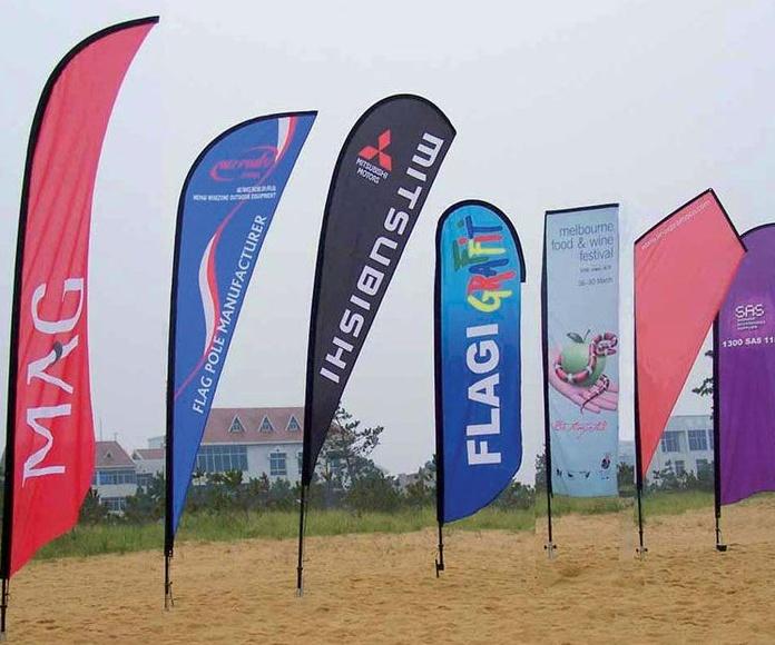 Banderas, Mástiles, Banderines deportivos, Banners Colgantes