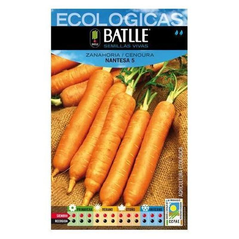 Semillas ecológicas de Zanahoria nantesa 5 Ref.2
