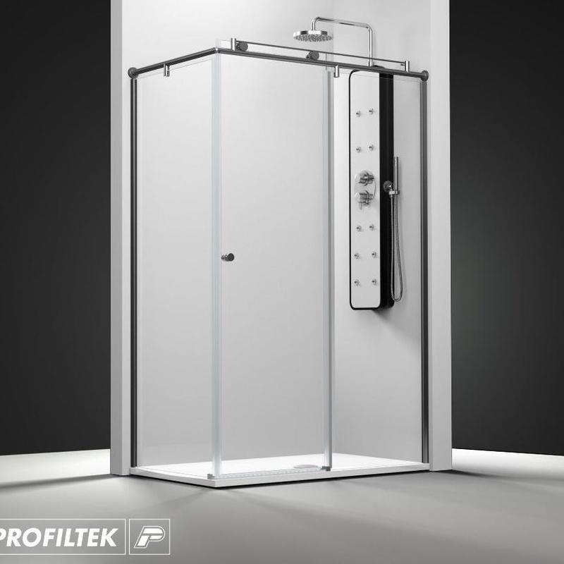 Mampara de baño Profiltek serie Steel modelo ST-201 Light