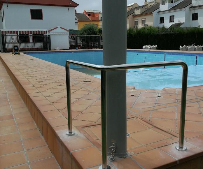 Barandillas de acero inoxidable para zona de piscina de comunidad de vecinos