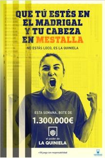La Quiniela de fútbol del fin de semana del 11 de Abril tenemos un bote de 1,3 MILLONES DE EUROS.