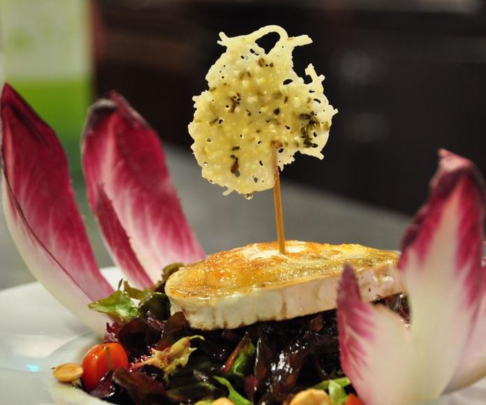 Ensalada de queso de cabra.