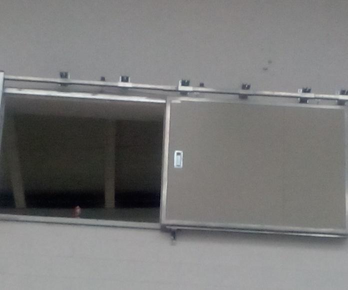 Puerta cortafuegos corredera para ventana RF90