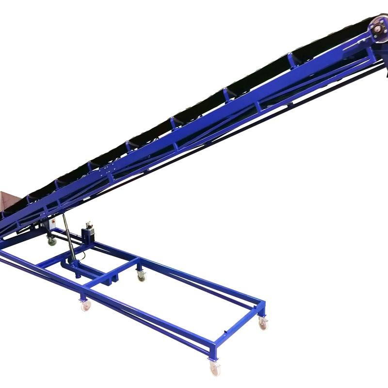 Transportador JIRAFA, mediante cinta transportadora