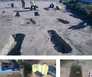 Extracción de restos arqueológicos