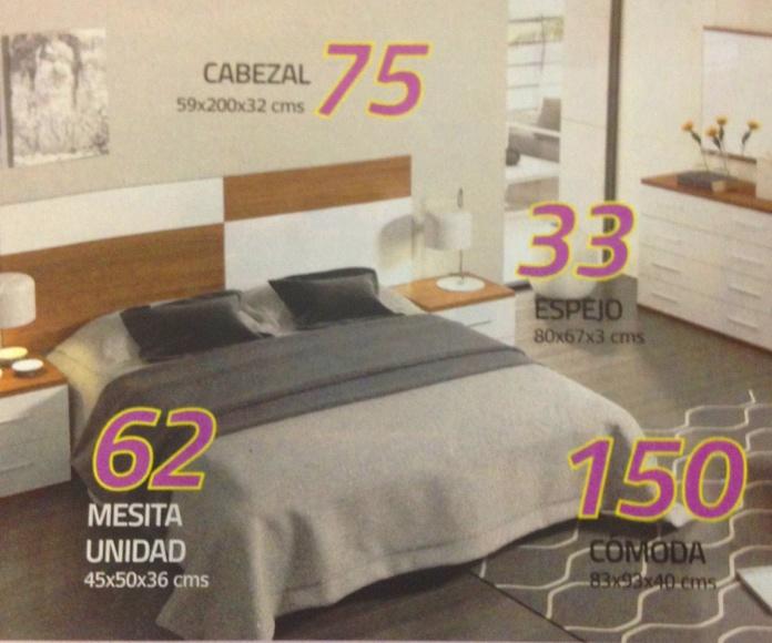 dormitorio matrimonio dublin: Productos  de Muebles Llueca, S. L.