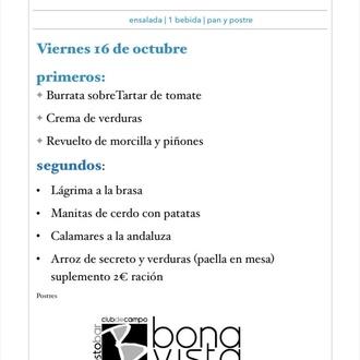 Menú Diario de martes a viernes