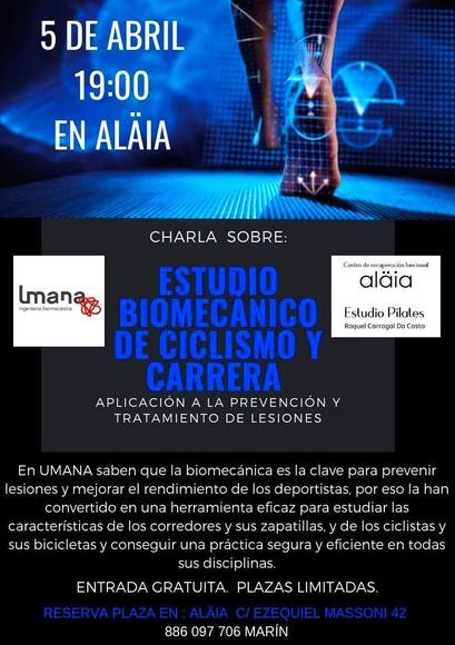 CHARLA ESTUDIO BIOMECÁNICO EN EL CICLISMO Y LA CARRERA