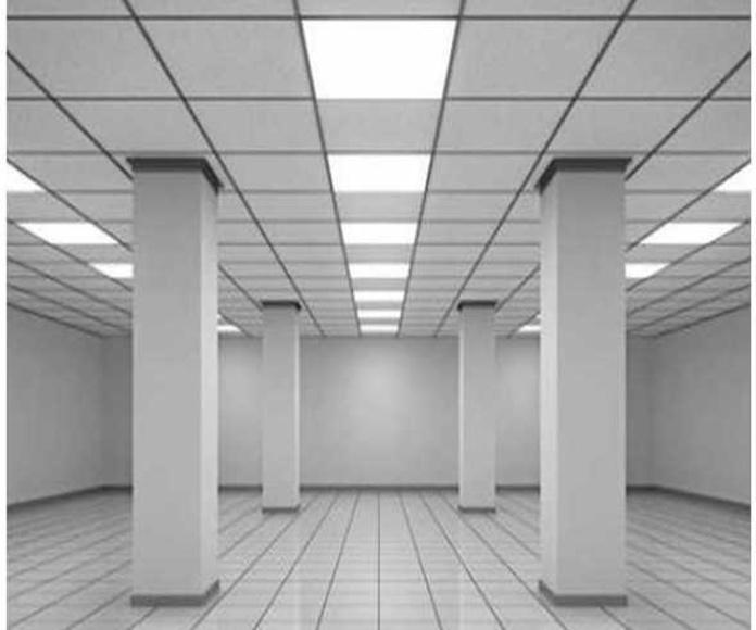 Paneles de LED 60X60 cm para techos desmontables.
