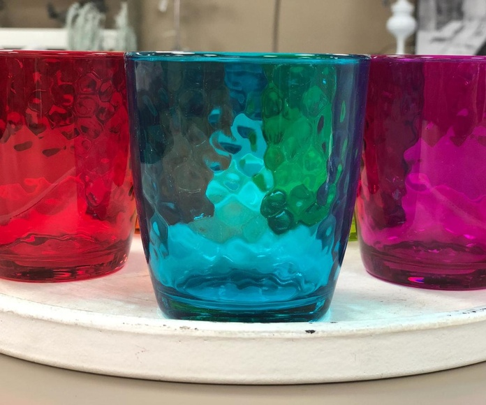 Vasos cristal colores
