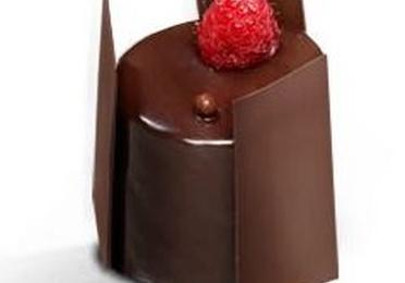 Bavaroise de chocolate con frutos rojos