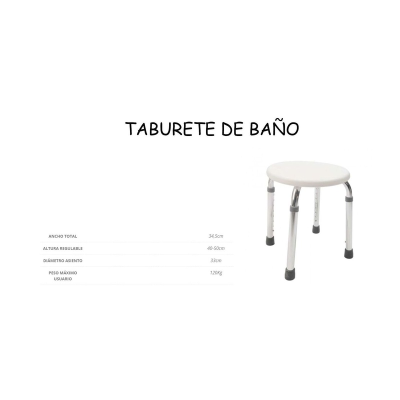 BANQUETA REDONDA: Catálogo de Ortopedia Bentejui
