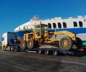 Transporte de maquinaria para obras públicas