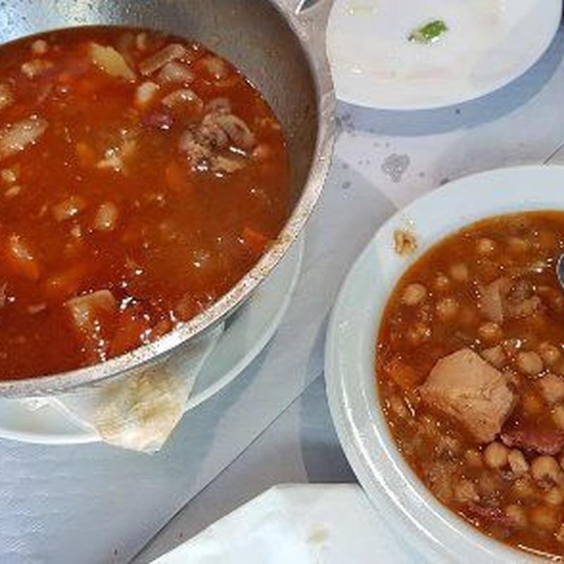 Platos de cuchara: Cocina casera de Restaurante El Cocinero