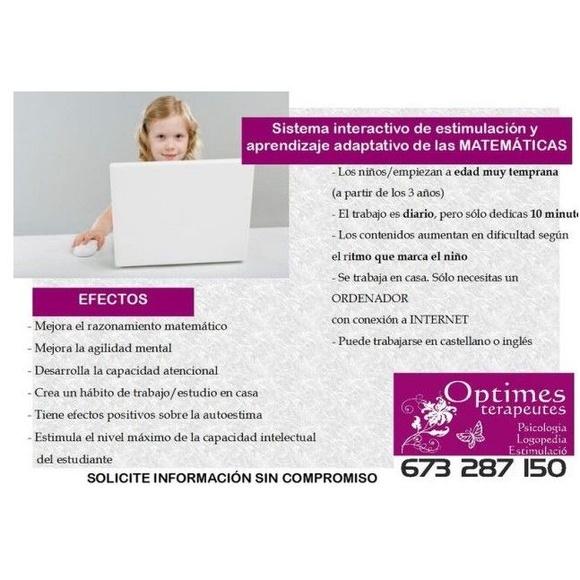 Matemáticas: Servicios de Optimes Terapeutes