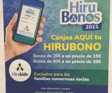 HIRUBONOS DE 20 € y 40 € DE HIRUKIDE