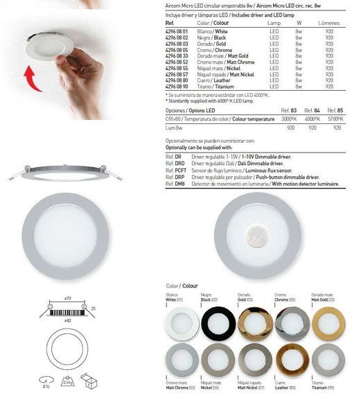 Aros led  secom 8W : Productos de Centro Led Almería