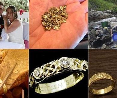 Busca oro durante 18 meses para las alianzas de su boda.