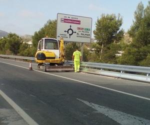 Trabajos en carretera