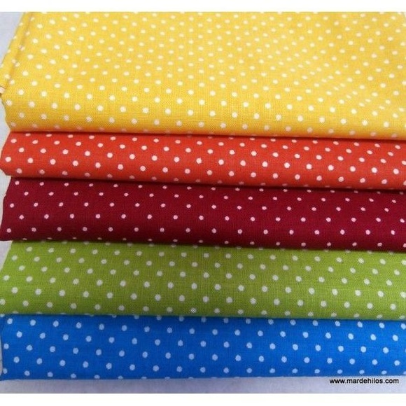 Little dot lote 5 fat quarters: Productos de Mar de Hilos