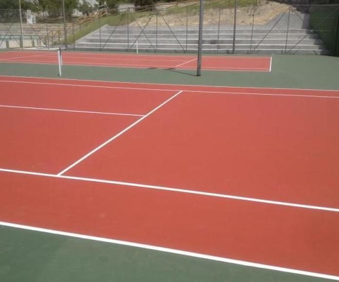 Pista de tenis, resinas: Productos de Clymarti
