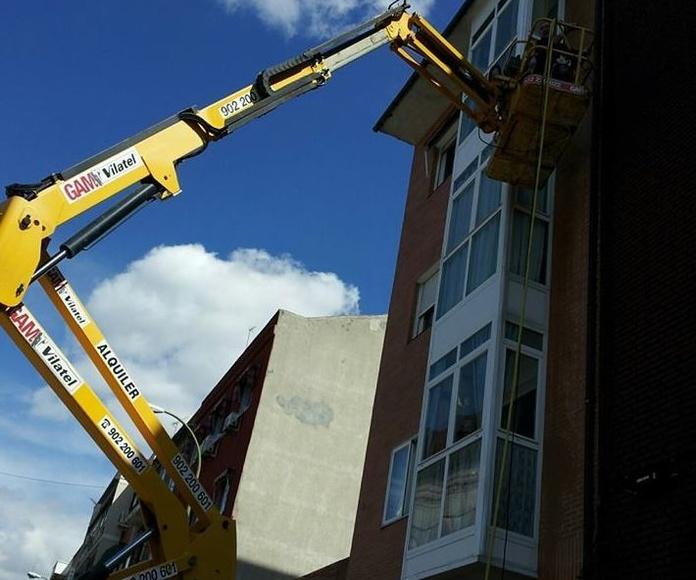 Trabajo vertical en balcón
