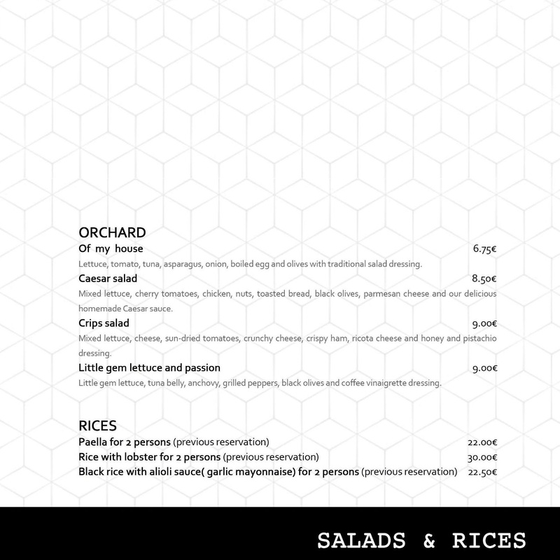 Salads & Rices.