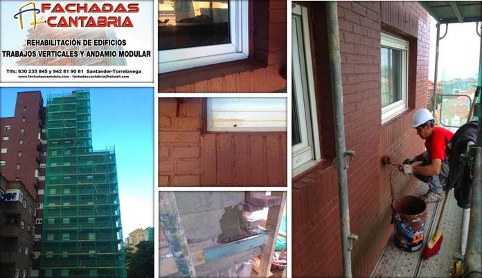 Rehabilitación y mantenimientos de fachadas en Santander