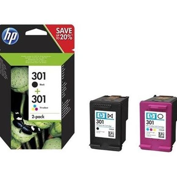 HP Multipack 1x301 Negro + 1x301 Color: Productos y Servicios de Stylepc