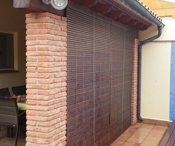 Persiana cadenilla exterior madera