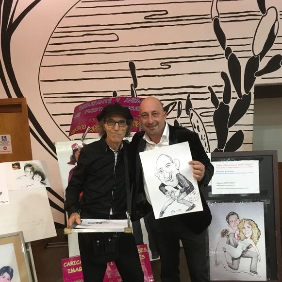 Con el famoso mago Jordi Caps