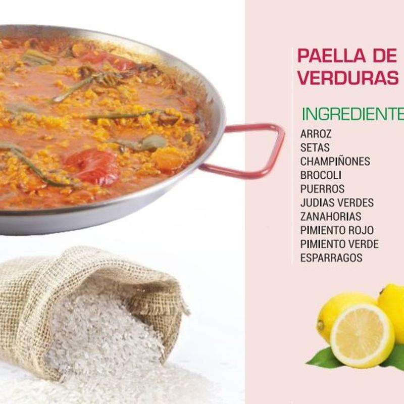 Paella de verduras: Servicio a domicilio de La Casita de los Arroces