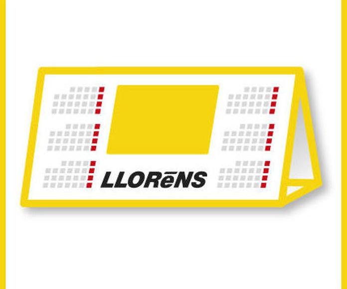 Calendarios de Barraca Troquelados: Productos y Servicios de Imprenta Llorens