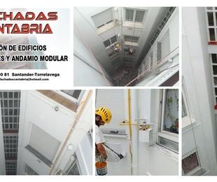 Impermeabilización de fachadas en patio interior Torrelavega