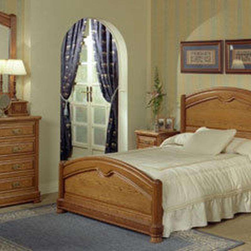 dormitorio en roble macizo de 135x190.