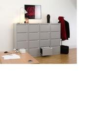 archivadores de 4 cajones color gris