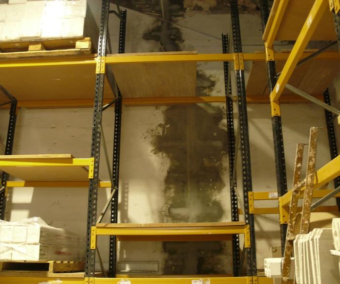 Cosido de grietas mediante grapas y mortero tixotrópico. (Madrid)