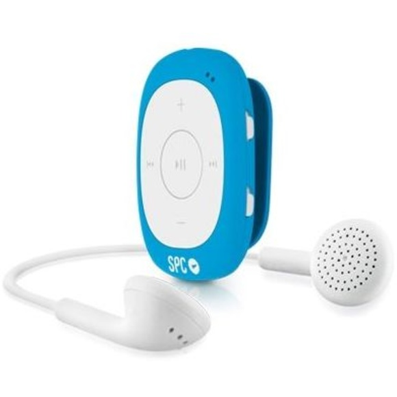 SPC 8584A Reproductor MP3 4GB+Radio Clip Azul : Productos y Servicios de Stylepc